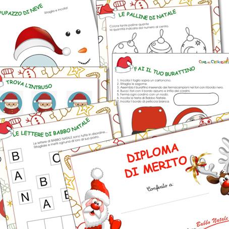 Giochi di Natale da stampare per bambini da 3 a 5 anni